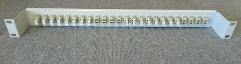 "48 Fiber 24 Port LC Duplex OS2 SingleMode Adapters 1U 19"" Fiber Patch Panel"